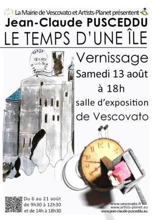 """Vescovato : 'Le temps d'une île"""" de Jean-Claude Pusceddu"""