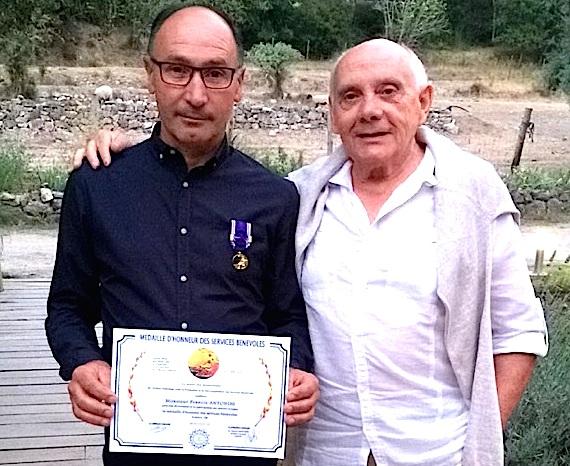 François Antonini (à gauche) et Jean-Pierre Leccia