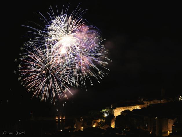 Bastia : Le feu d'artifice dans l'objectif de Carine Poletti