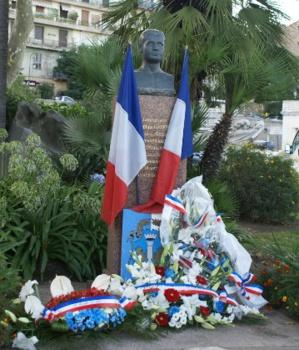 Monument en la mémoire de Pierre Griffi, à Ajaccio.