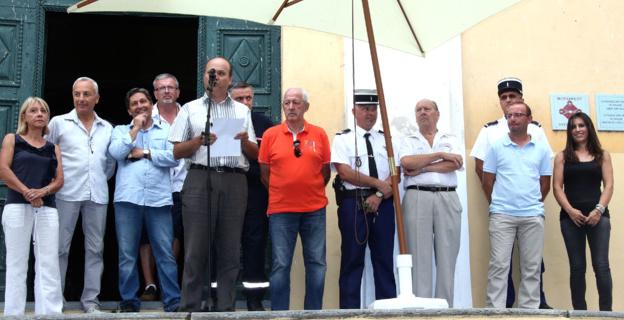 Marc-Antoine Nicolai, maire de Cervioni, à l'heure des allocutions d'ouverture