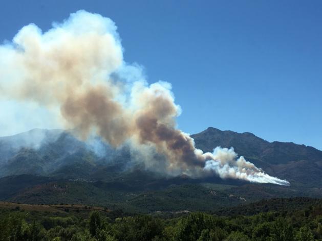 Corte : Un incendie a parcouru 60 hectares. Un Dash en renfort