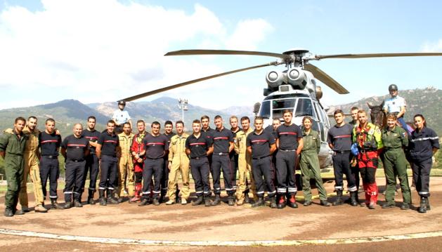 Pompiers de Sainte-Lucie de Porto-Vecchio-BA 126 : Exercice commun de sauvetage