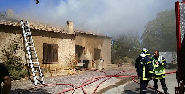 Habitation en feu à L'Ile-Rousse : Importants dégâts