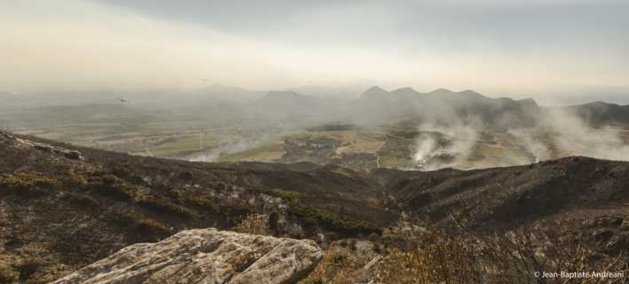 Après quatre jours de feu, un paysage de fin du monde.