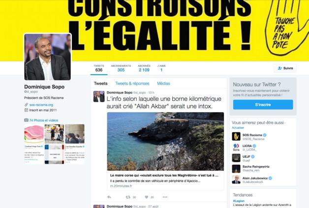 La mort de Charles-Antoine Casanova : Le dérapage de Dominique Sopo sur Twitter