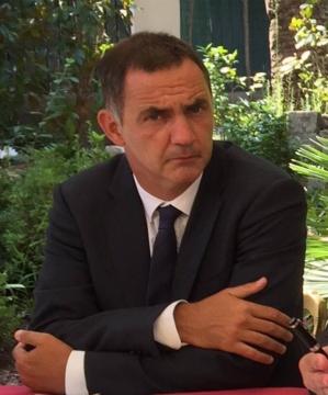 Gilles Simeoni, Président de l'Exécutif de l'Assemblée de Corse.