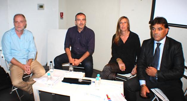 Laurent Simonpoli, Marc Degli Esposti, Sylvie Acquaviva et Laurent Corteel