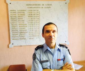 Le Général Jacques Flays, récemment nommé commandant de la légion de gendarmerie de Corse.