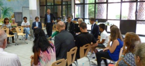Rentrée scolaire : Gilles Simeoni et Josepha Giacometti sur le terrain