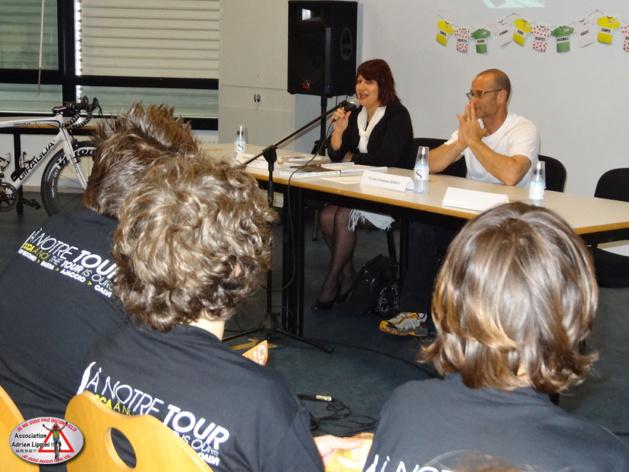 L'Association « Adrien Lippini, Un vélo, Une vie » à Cernay (Haut-Rhin) pour prêcher la bonne parole
