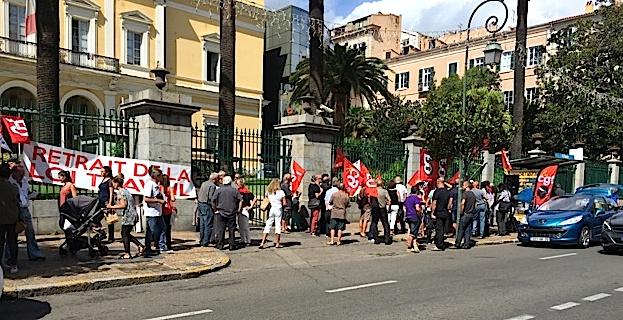 Ajaccio: Nouvelle manifestation contre la loi Travail