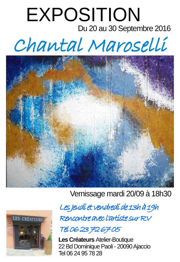 Ajaccio : Chantal Maroselli expose