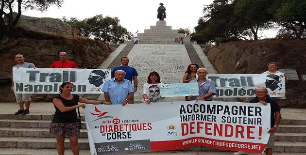 Trail Napoléon : 3 800 euros pour l'Association des diabétiques de Corse