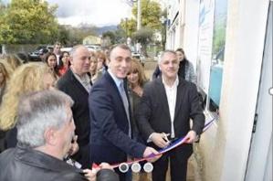 L'inauguration du Sp@ziu en présence Jean-Christophe Angelini, président de l'Adec