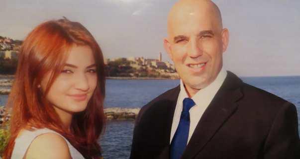 Cathy Grimaldi et Michel Bruschini, le binôme du Front national candidat à l'élection départementale partielle du canton de Bastia III.