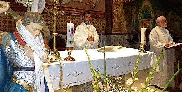 Saint Michel célébré par le Père Louis El Rahi