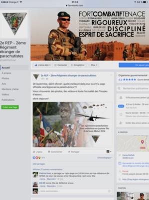 Le 2ème REP de Calvi lance sa page officielle sur Facebook