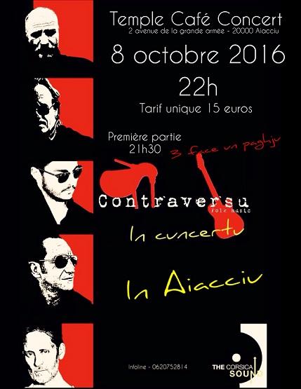 Concert du groupe Contraversu au Temple Café-Concert
