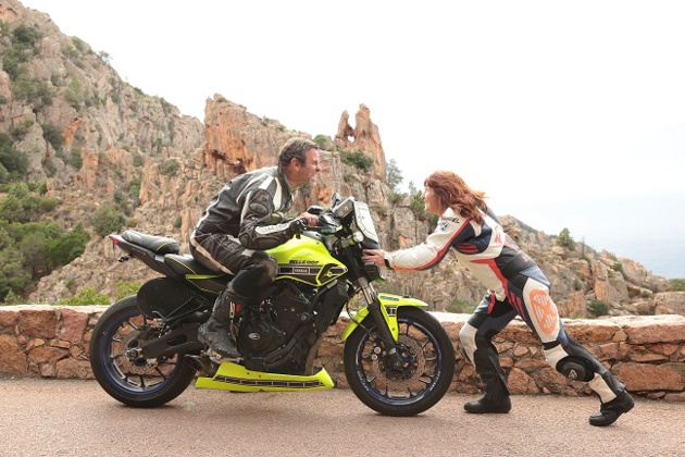 """Gérard Dusserm et Christiane Martelli au """"Moto Tour"""" en catégorie duo"""