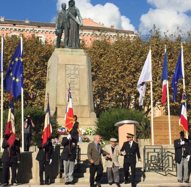 Ernest Bonacoscia et le Préfet de Haute-Corse Alain Thirion