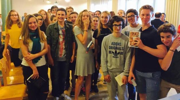 La classe de seconde 5 du lycée Fesch, première classe corse à participer au prix Goncourt des lycéens.