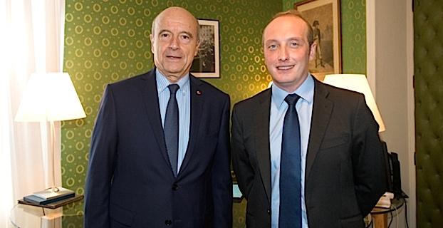 Alain Juppé reçu à la mairie d'Ajaccio
