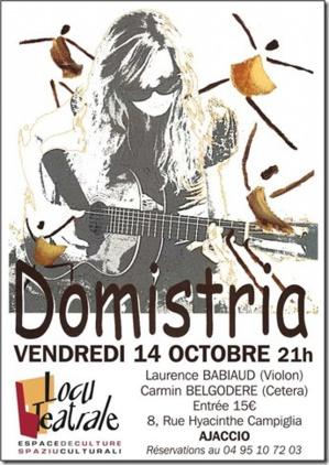 Ajaccio : Domistria  en concert à Locu Téatrale