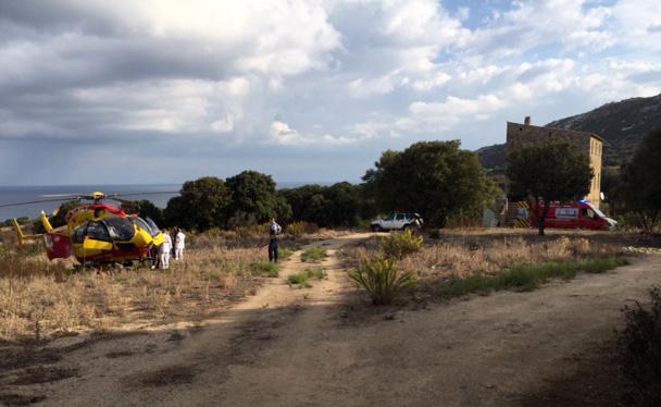 Problème  conjugal à Lumio : Un homme grièvement blessé par son épouse a été  évacué par hélicoptère