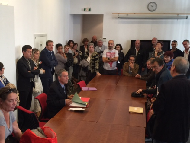 Tous ont été reçus par le directeur adjoint, Gilles Rougon, dans les locaux du Centre des finances publiques de Bastia