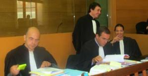 Me Marc Mondoloni, Me Stéphane Nessa et Me Cynthia Costa-Sigrist.