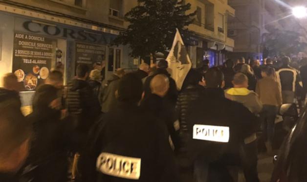 Bastia : Les policiers dans la rue