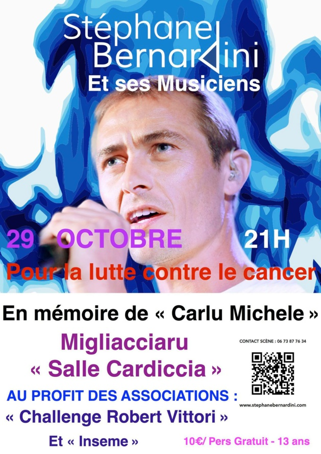 Prunelli di Fiumorbu : Stéphane Bernardini chante Samedi contre le cancer