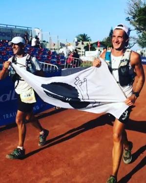 Pierre Layachi (388e) et Marc-Antoine Pierlovisi (387e) à l'arrivée des 167 km