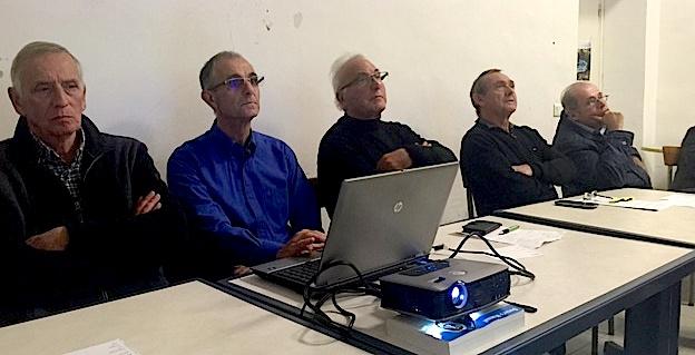 Les membres du comité en présence de l'adjoint au maire, Philippe Peretti