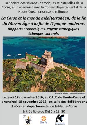 """Bastia : """"La Corse et le monde méditerranéen des origines au Moyen-Age"""" thème du colloque de la Société des Sciences"""