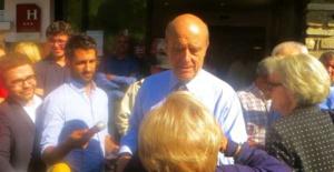 Le candidat Alain Juppé à Lucciana, début octobre.