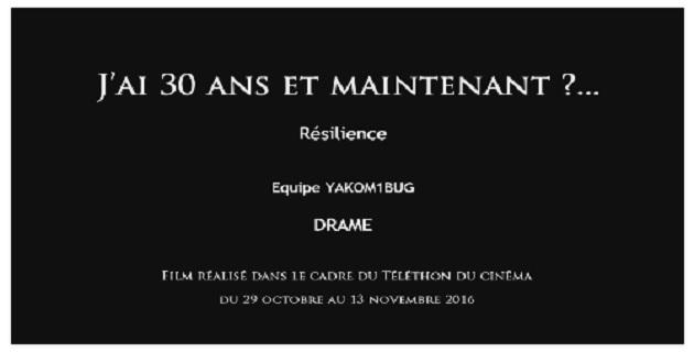 """2ème Téléthon du cinéma : la réalisation corse en lice avec le court métrage """"Résilience"""" """"J'ai 30 ans et maintenant ?"""""""