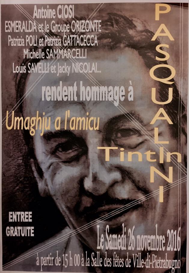 Ville- di-Pietrabugno : Hommage à Tintin Pasqualini