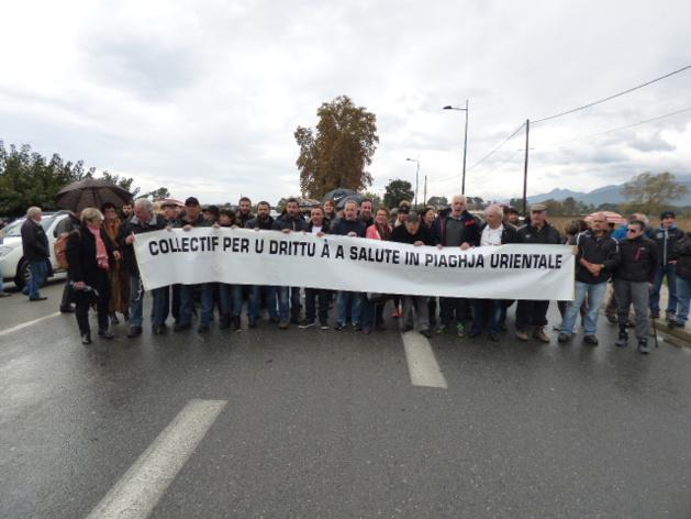 Le 19 novembre dernier, malgré le mauvais temps, près de deux cent personnes avaient manifesté sur la RT 10