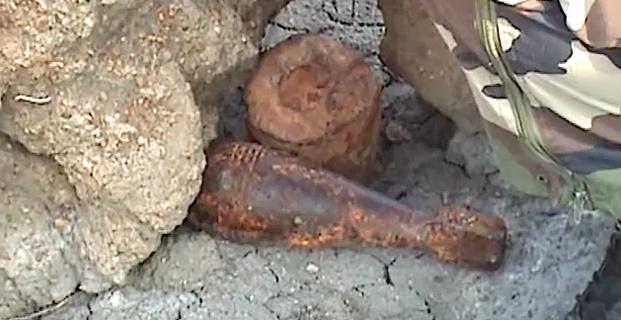 Miomu  : Des obus de mortiers allemands dans le Fiumicellu