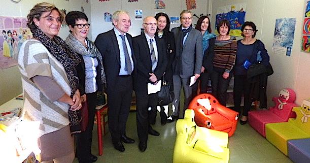 Le micro accueil de Ghisonaccia inauguré en présence du préfet de la Haute Corse et du président du conseil départemental de la Haute Corse.
