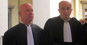 Le bâtonnier Gérard Tiberi et Me François José Martini.