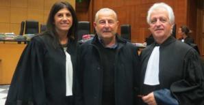 Jacques Costa, entouré de ses deux avocats, Me Toussaint et Me Antomarchi.