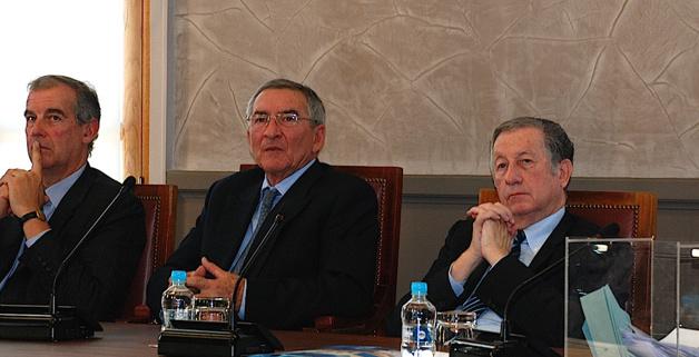 François Nicolai (au centre) nouveau président de la CCI de Corse
