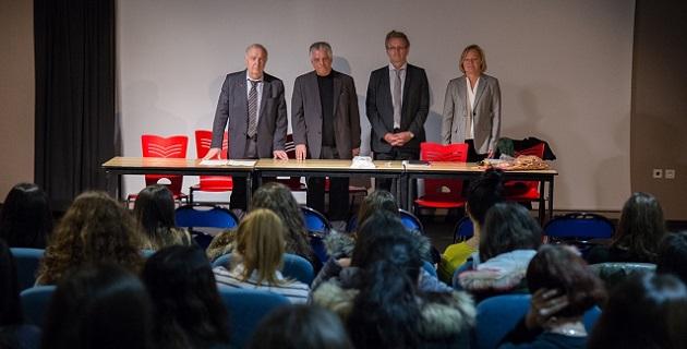 Sida : Le recteur et le président du Conseil départemental sensibilisent le lycée Lætitia