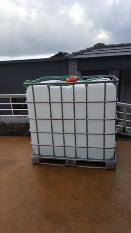 Claudine Alfano a dû débourser 500 euros afin de se procurer cette cuve de 1000 litres