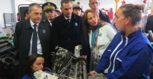 Ségolène Royal visite le lycée maritime et aquacole de Bastia.