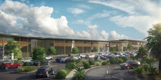 Le futur centre commercial l'Atrium, accueillera le 1er hypermarché Auchan de l'Ile