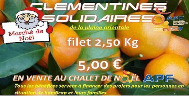 Clémentines solidaires de l'APF au marché de Noël d'Ajaccio